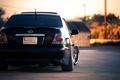 Картинка чёрный, Lexus, black, лексус, задняя часть