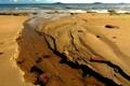 Картинка песок, море, небо, берег, отлив