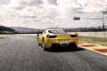 Картинка Авто, Дорога, Желтый, Машина, Асфальт, Ferrari, 458