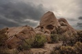 Картинка небо, природа, камни, Joshua Tree, national park, Skull-Rock