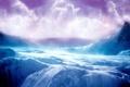Картинка облака, скалистые горы, Пейзаж, небо, лед, горы, ice-terrain