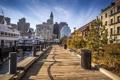 Картинка дома, корабли, бухта, причал, США, Boston, Massachusetts