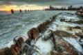 Картинка зима, город, утро, Чикаго, США, Chicago, illinois