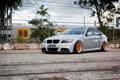 Картинка тюнинг, бмв, BMW, серая, tuning, E90, 3 серия