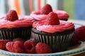 Картинка малина, розовая, печенье, крем, десерт, pink, сладкое