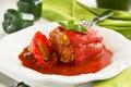 Картинка второе блюдо, main dish, фаршированный мясом и овощами, Red pepper stuffed with meat and vegetables, ...