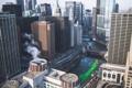 Картинка город, река, дома, Чикаго, США