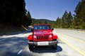 Картинка Красный, Авто, Дорога, Sahara, Wrangler, Jeep, Unlimited