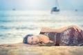 Картинка море, взгляд, девушка