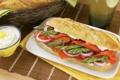 Картинка рыба, хлеб, бутерброд, спаржа