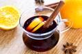 Картинка вино, апельсины, палочки, напиток, фрукты, корица, цитрусы