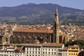 Картинка Флоренция, горы, базилика Санта-Кроче, Италия, дома