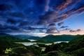 Картинка небо, облака, закат, горы, вечер, Тайвань, Тайбэй