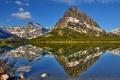 Картинка лес, пейзаж, горы, природа, озеро, отражение
