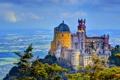 Картинка город, Португалия, фото, дворец, Palacio da Pena Sintra, HDR