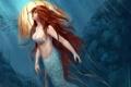 Картинка mermaid, подводный мир, русалка, медуза