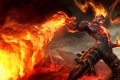 Картинка скалы, пламя, маг, League of Legends, LoL, Brand