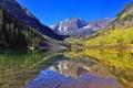 Картинка небо, горы, озеро, камни, зеркало