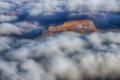 Картинка облака, горы, скалы, каньон