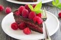 Картинка сладость, мята, выпечка, малинка, шоколадный торт