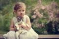 Картинка котёнок, портрет, девочка