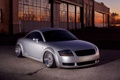 Картинка audi, grey, tuning, low