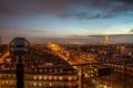 Картинка здания, вид, вечер, Paris, огни, город, Ile-de-France
