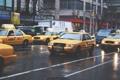 Картинка машины, город, движение, улица, такси