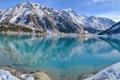 Картинка озеро, Горы, зимнее время