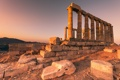 Картинка Sunset, Cape Sounio, Temple of Poseidon