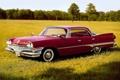 Картинка передок, поле, Sedan, Dodge, 1960, Dart, Додж