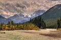 Картинка солнце, горы, природа, река