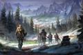 Картинка тундра, Skyrim, The Elder Scrolls, Скайрим, The Elder Scrolls Online, TES Online, норды