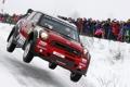 Картинка Красный, Зима, Авто, Снег, Люди, Mini Cooper, WRC
