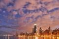 Картинка city, огни, небоскребы, вечер, чикаго, Chicago, sky line