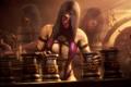 Картинка грудь, девушка, игра, костюм, mortal kombat, mileena, fighting