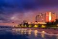 Картинка lights, sea, beach, ocean, night, hotel, lighthouse