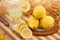 Картинка бокал, сок, фрукты, цитрусы, лимоны