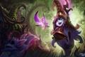 Картинка лес, фея, арт, зверек, lol, League of Legends, Lulu