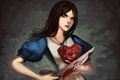 Картинка оружие, кровь, сердце, Алиса, нож, Alice Madness Returns