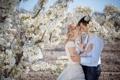 Картинка девушка, весна, пара, парень, невеста, свадьба, сирень