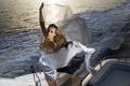 Картинка море, девушка, яхта