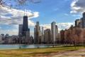 Картинка Весна, Чикаго, Мичиган, Небоскребы, Здания, Америка, Иллинойс
