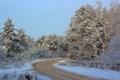 Картинка зима, дорога, пейзаж