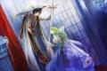 Картинка принц, зеленые волосы, поклон, Лелуш, сode geass