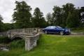 Картинка Авто, Bentley, Синий, Деревья, Машина, Седан, Люкс
