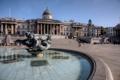 Картинка Англия, Лондон, фонтан, Трафальгарская площадь