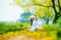 Картинка природа, осень, девушка