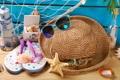 Картинка пляж, лето, отдых, шляпа, очки, summer, beach