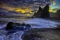 Картинка море, пляж, небо, скалы